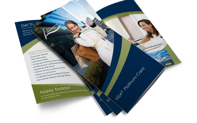 Brochure Design for MountainCrest Credit Union