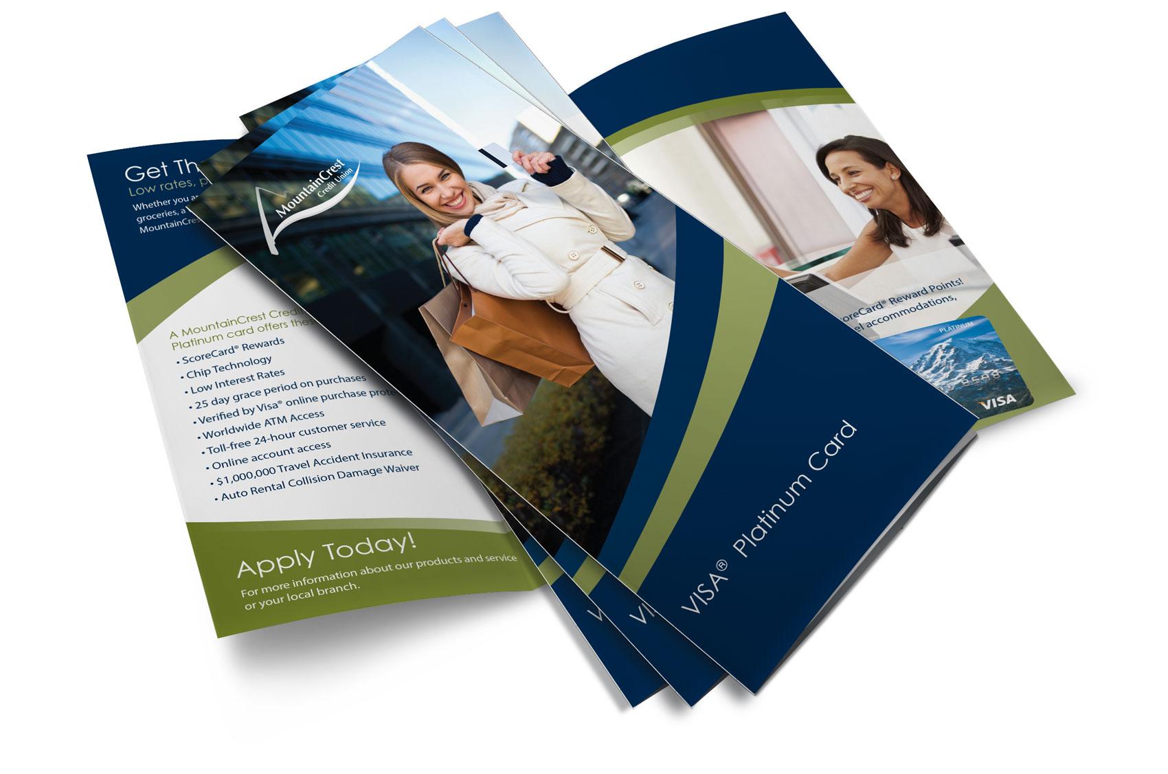 Brochure Design for MountainCrest Credit Union