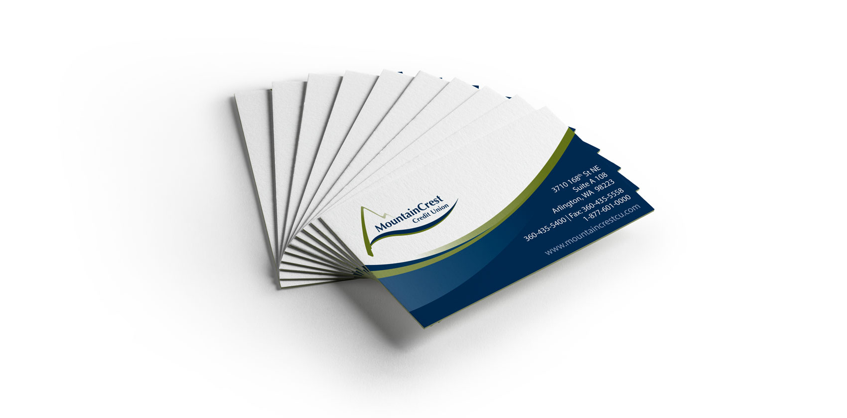 Business Card Design for MountainCrest Credit Union