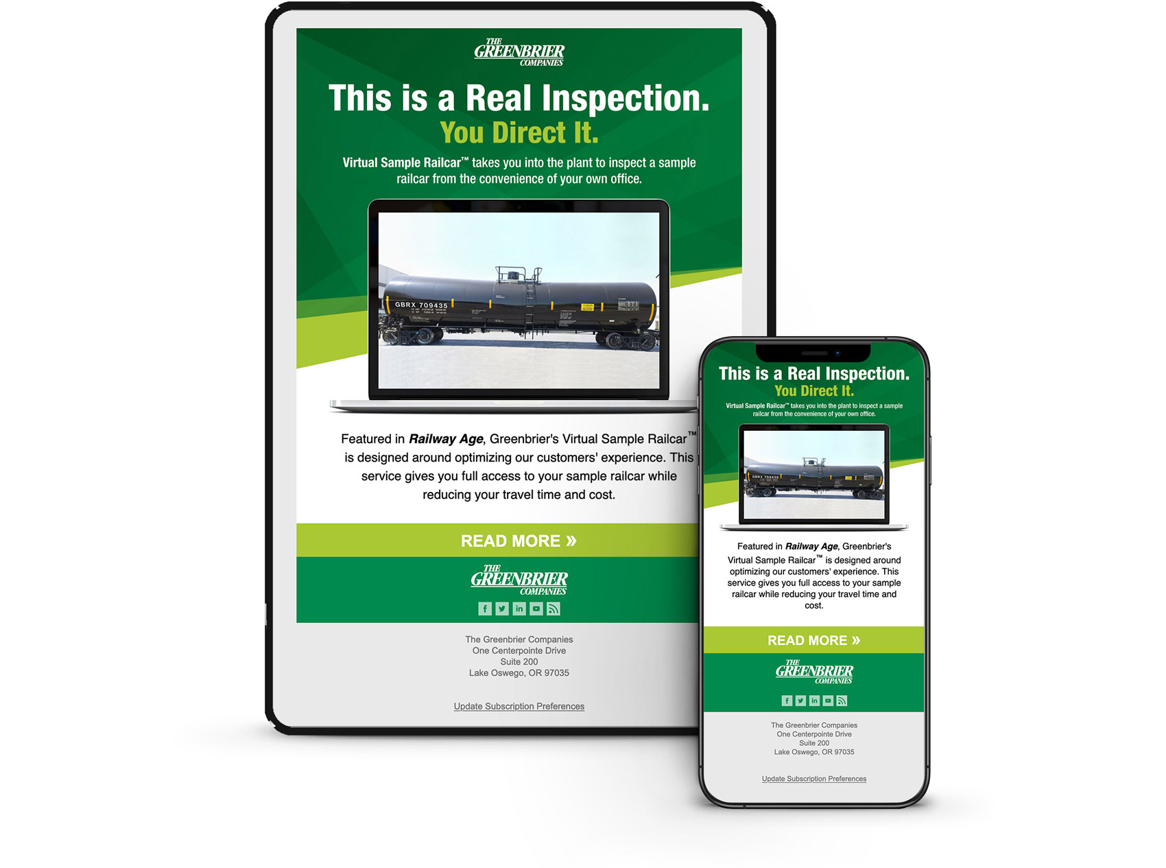 HTML Email Design for The Greenbrier Companies