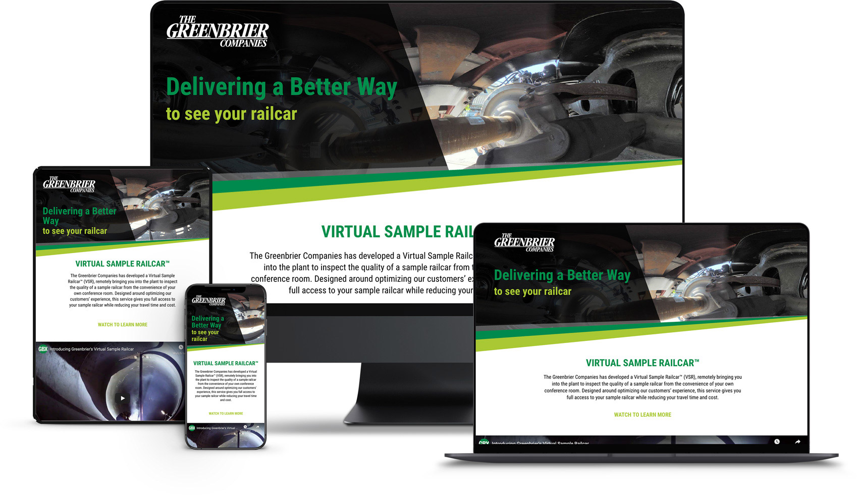 Landing Page Design for Greenbrier VSR