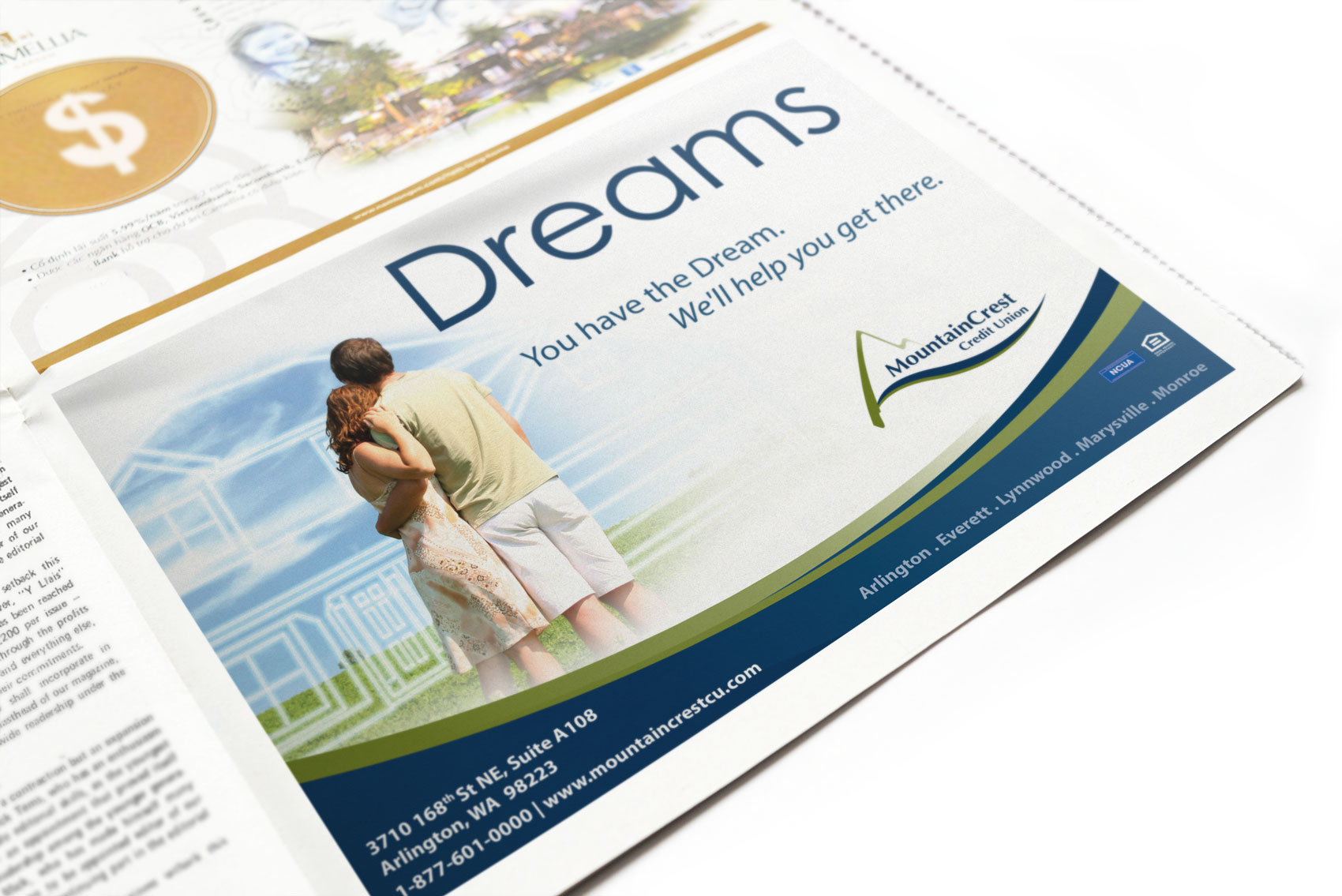 Newspaper Ad Design for MountainCrest Credit Union