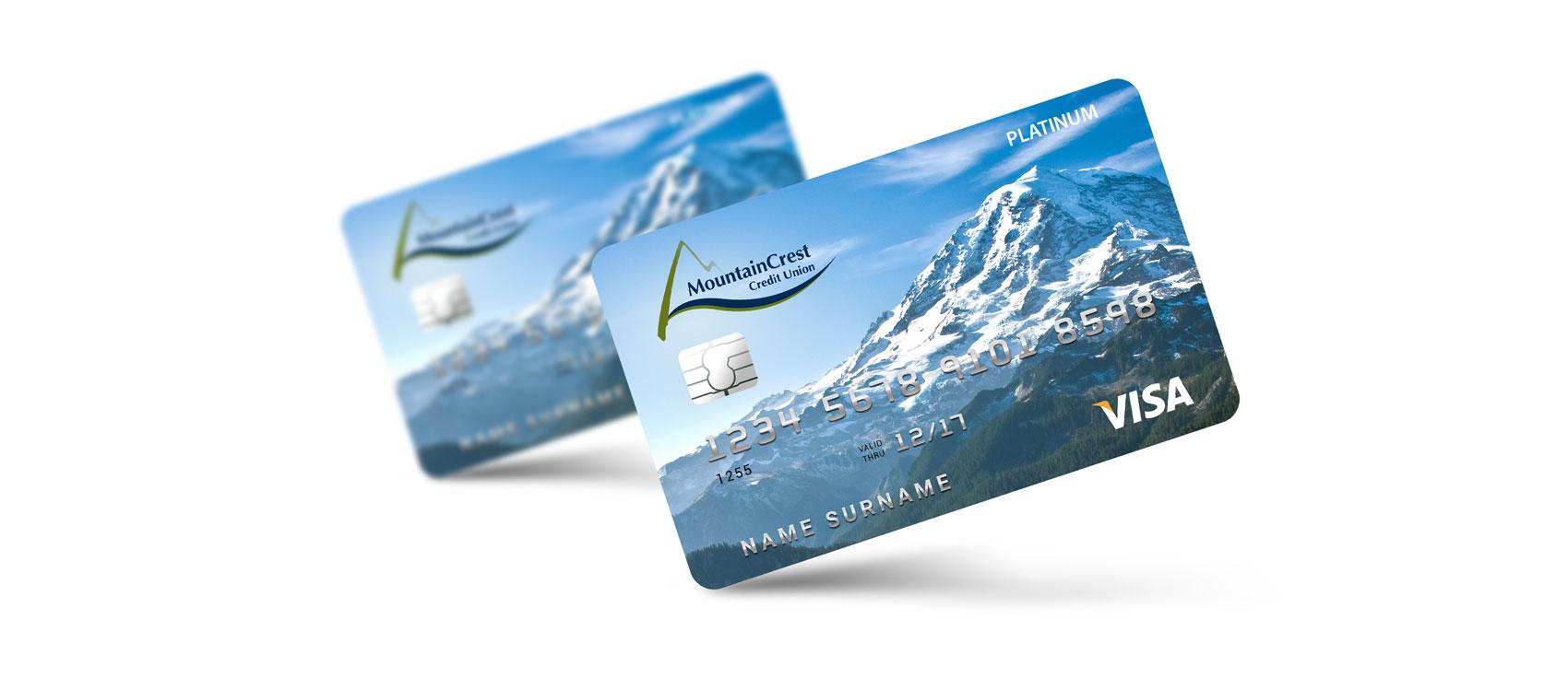 Visa card Design for MountainCrest Credit Union