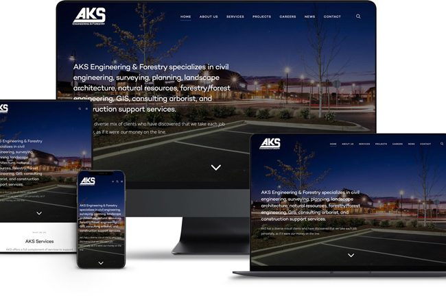 Website design for AKS Engineering