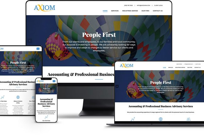 Website Design for Axiom