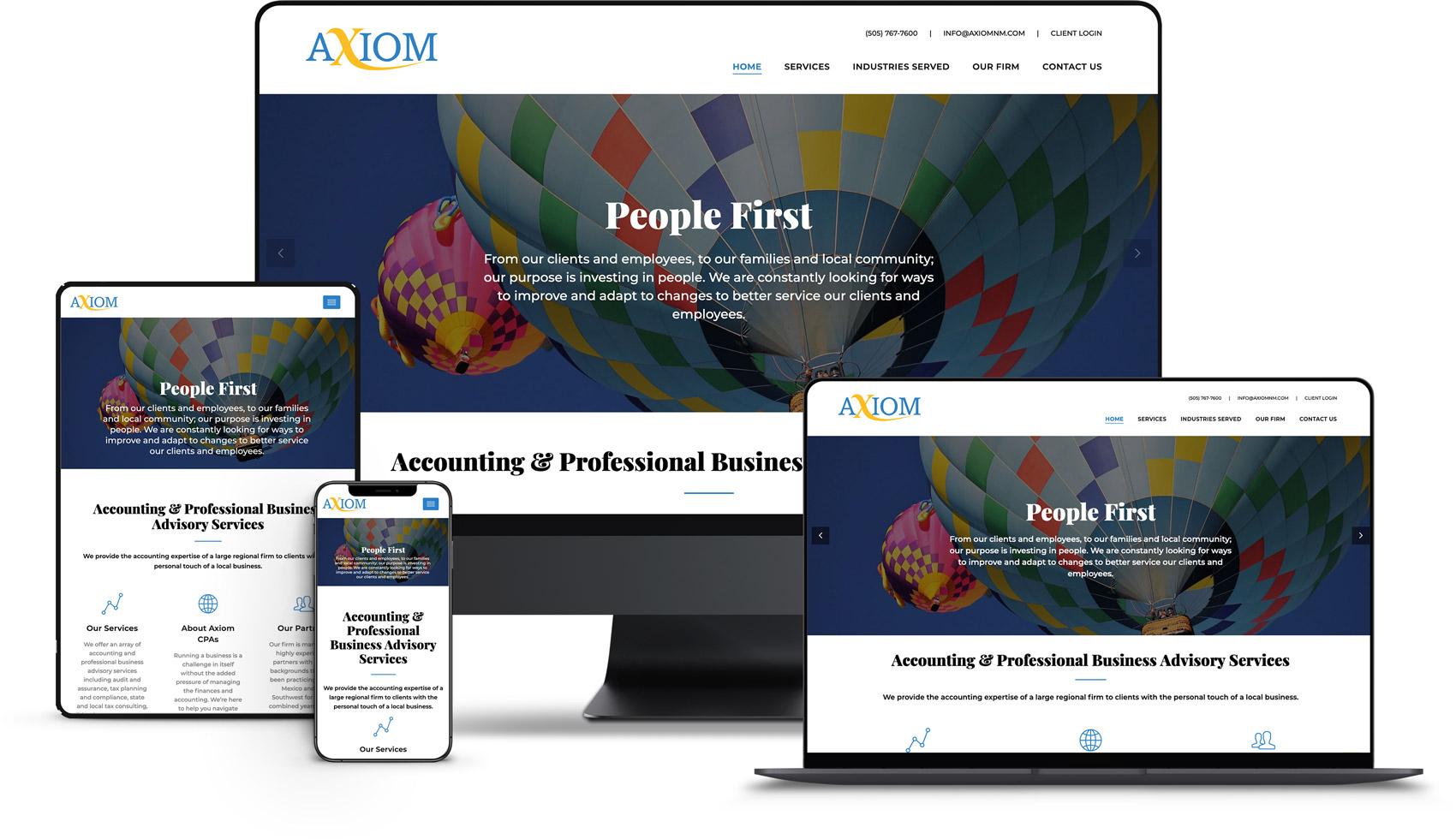 Website Design for Axiom
