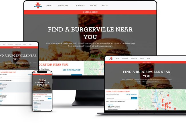 Website Design for Burgerville