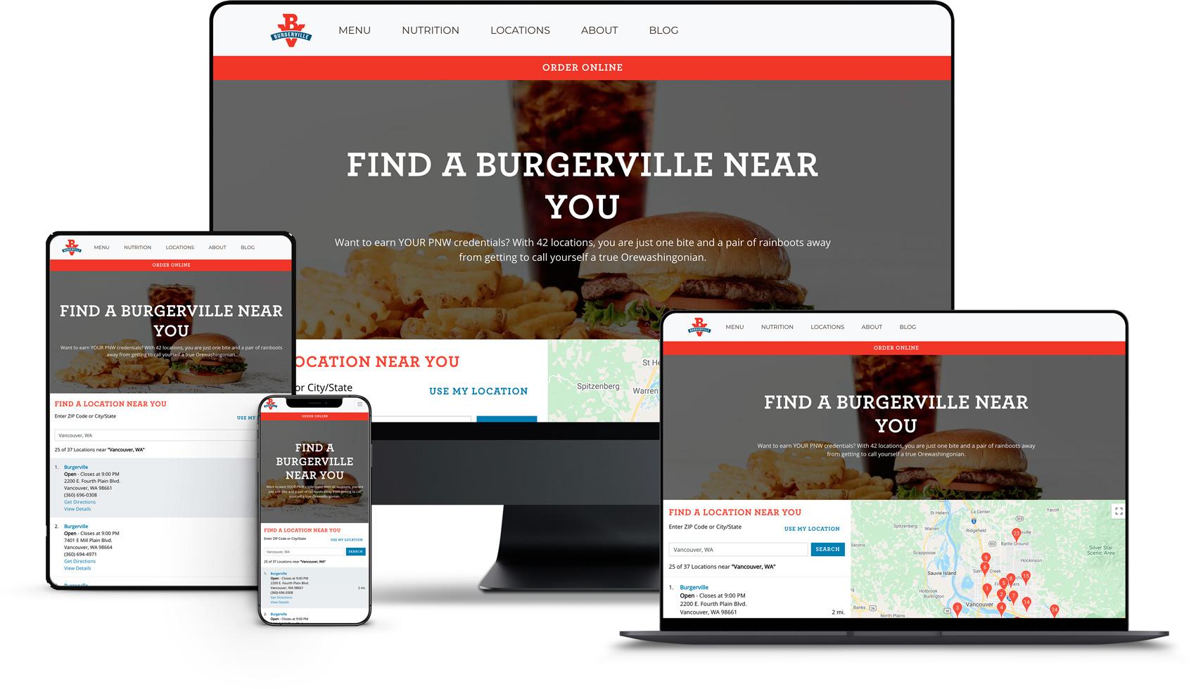 Website Design for Burgerville