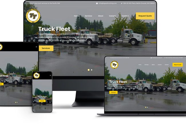 Website Design for Tapani Trucking