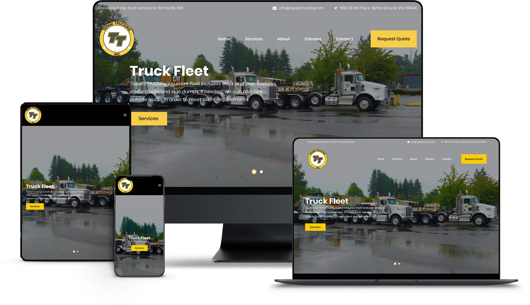 Website Design for Tapani Trucking